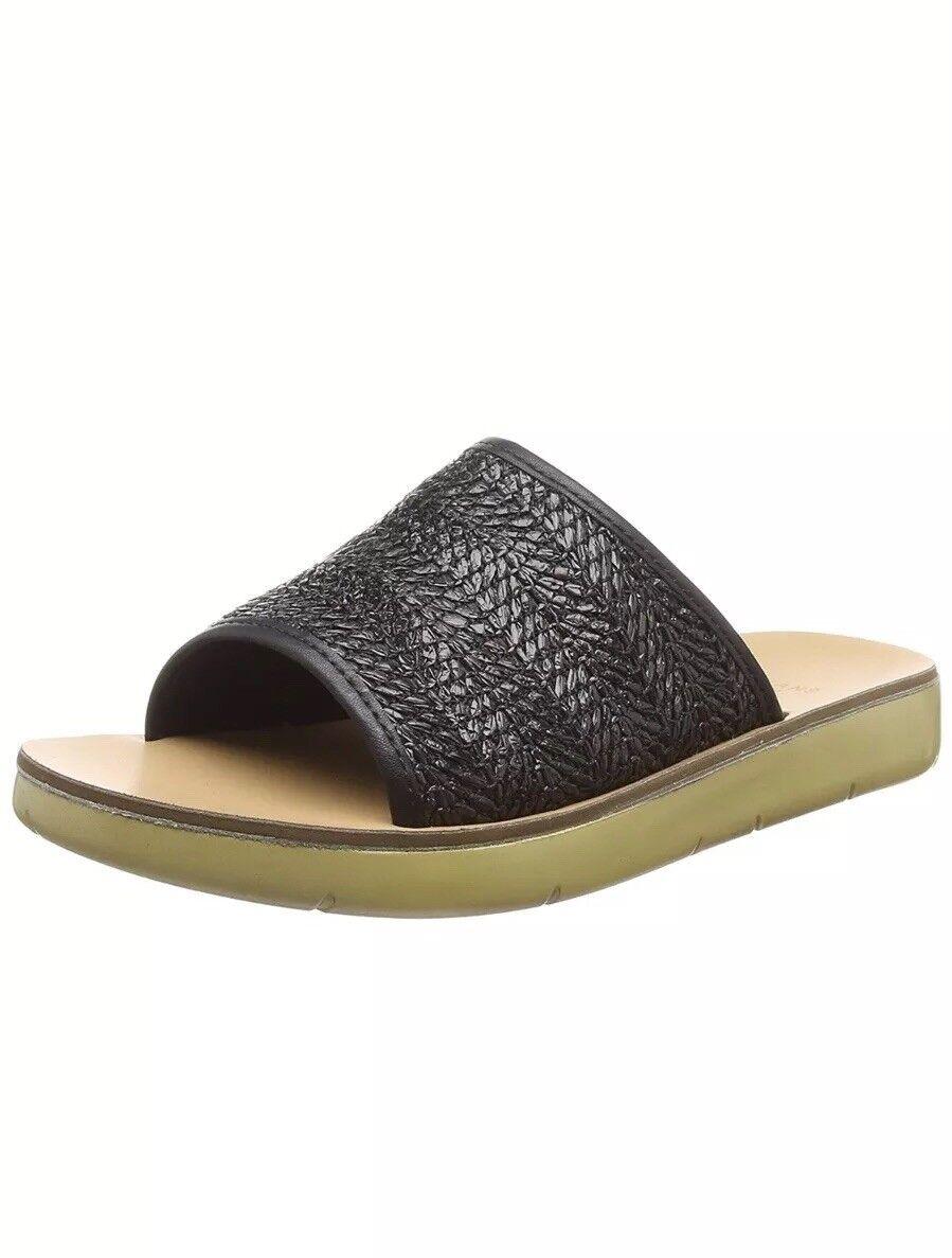 Evans Womens Nikki Open Toe Sandals Black  UK 8 EU 41