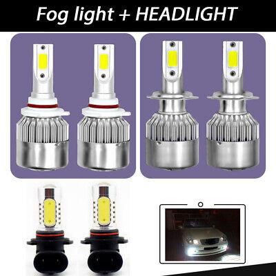 For Subaru Outback 2005-2009 9005 H7 Headlight 9006 Fog Light LED Combo 6x Bulbs