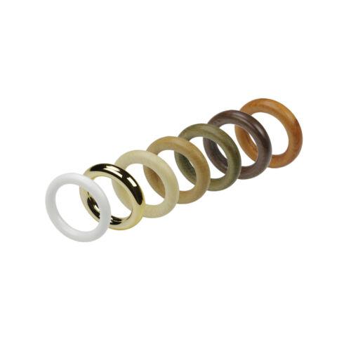 Gardinenring Stilring Ringe mit Faltenlegehaken für 28 mm 8 Farben 10 Stück