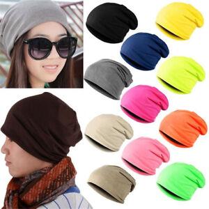 Winter-Warm-Unisex-Casual-Knit-Ski-Crochet-Slouchy-Hat-Cap-Beanie-Hip-Hop-Hats