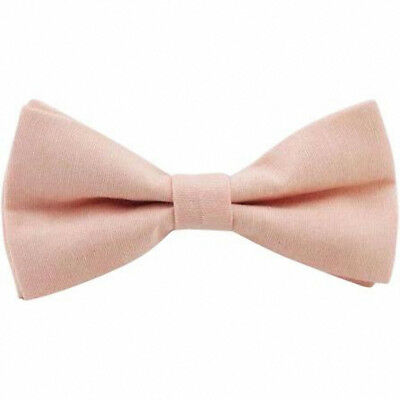 4fe6e1c164b4 Details about Vintage Wedding Blush Pink/Peach Cotton Pre-Tied Mens Bow Tie.  UK.
