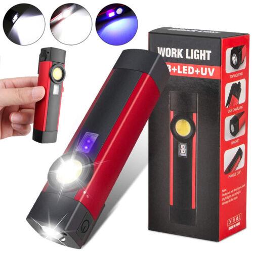 COB LED KFZ Arbeitsleuchte Akku Magnet Werkstattlampe Taschenlampe Handlampe UV