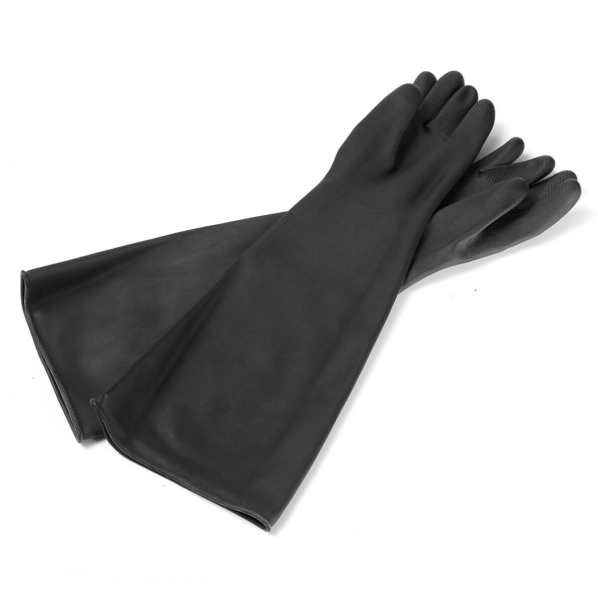 Latex Gauntlets Gauntlet Long Gloves Rubber PPE Industrial Anti Chemical 60CM
