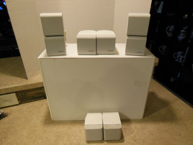 XX10 BOSE Acoustimass 7 Home Theater System Subwoofer W/ Sub 2 Double 4 Single C