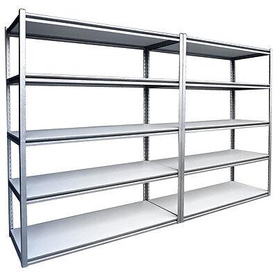 Garage Warehouse Steel Storage Shelving 2440 x 460mm 10 Shelves 1300kgs Capacity