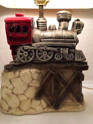 Railroad Locomotive Steam Engine Train, Train Table Lamp