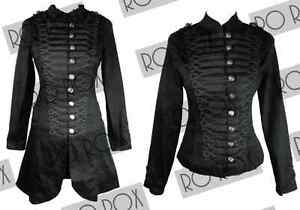 Hearts-Roses-Steampunk-Gothic-Victorian-Emo-MCR-Military-Parade-Goth-Jacket-Coat