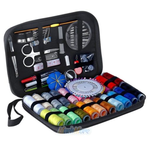126Pcs//Set Portable Sewing Kit Home Travel Emergency Professional Sewing Tools