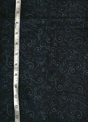 moda marble swirls in black cotton quilt fabric sold    3 yds x 44""