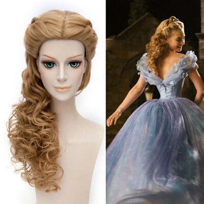 Cinderella Cinderella/Sin Ella Styling Lange Gelockt Brown Cosplay Perücken Wig