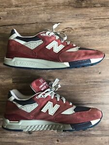 promo code 177af c6691 Details about Men's New Balance x JCrew 998 Port Sneakers Wine Burgundy 12  US Shoes J Crew Red