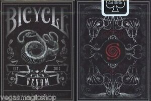 Venom-Deck-Bicycle-Playing-Cards-Poker-Size-USPCC-Custom-Limited-Edition-Sealed
