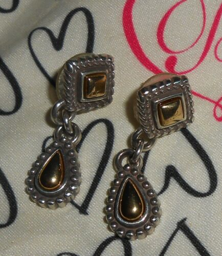 BRIGHTON TWO TONE COLOR EARRINGS-TWO SHAPES- BEAUT