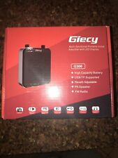 Giecy G300 Voice Amplifier Portable Rechargeable Pa System Fm Radio No Strap