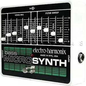 electro harmonix bass microsynth micro synth ehx guitar synthesizer pedal new 683274010809 ebay. Black Bedroom Furniture Sets. Home Design Ideas