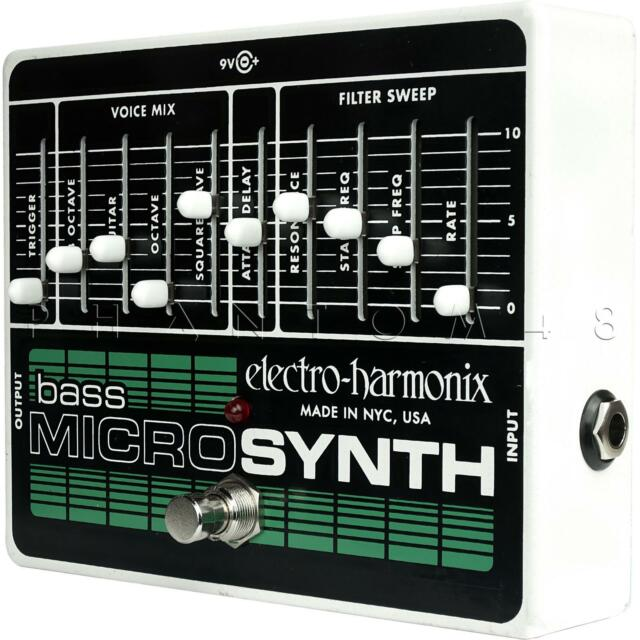 electro harmonix bass micro synthesizer bass guitar effect pedal for sale online ebay. Black Bedroom Furniture Sets. Home Design Ideas