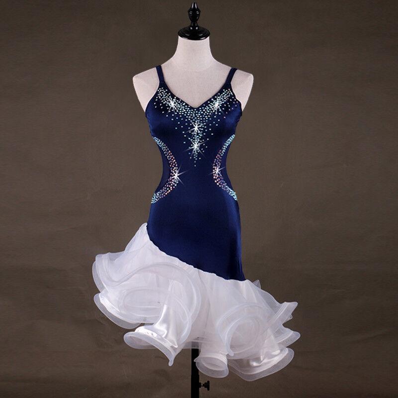 NEU Latino salsa Kleid TanzKleid TanzKleid TanzKleid LatinaKleid Latein Kleid Turnierkleid FM320 e8c97c