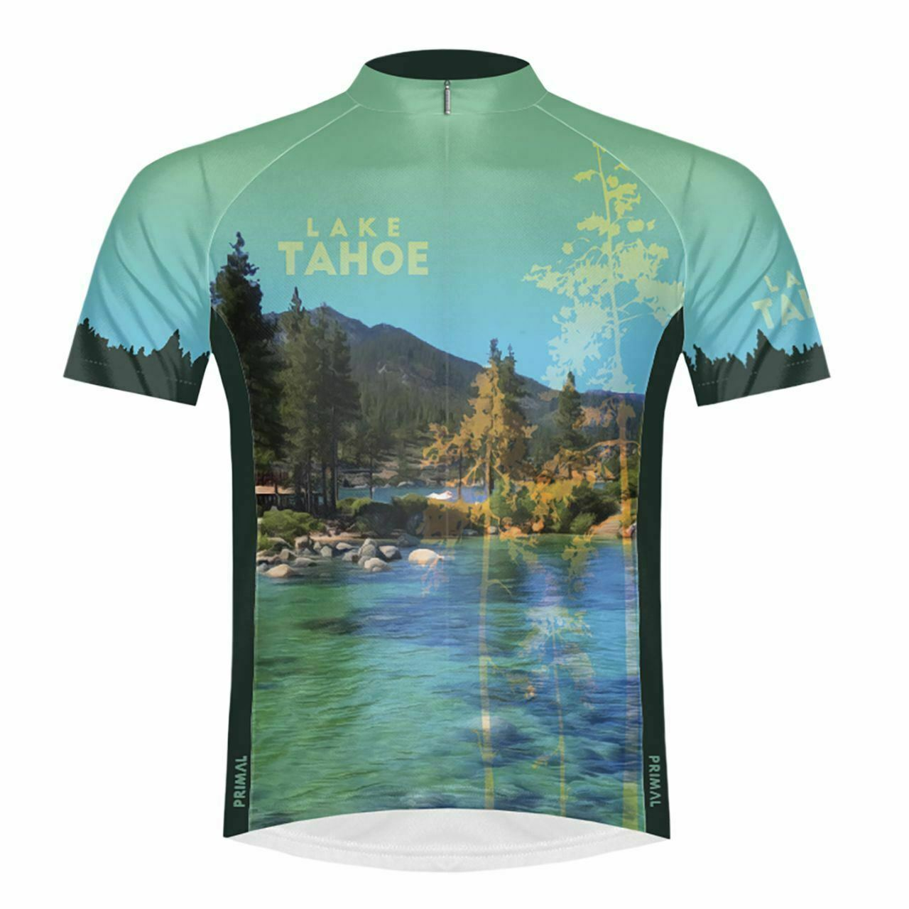 Primal Wear Lake Tahoe National Park uomo Sport Cut Full Zip Short Sleeve Cycli
