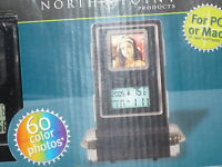 North Point, Time & Temp Digital Photo Frame 1.4 Lcd Clock- Thermometer