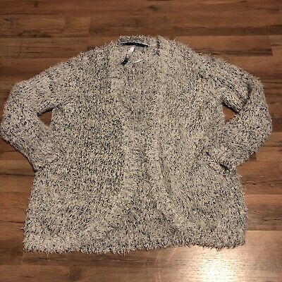 Women/'s Eyelash Knit Warm Oversized Open Front Long Cardigan Sweater Solid Color