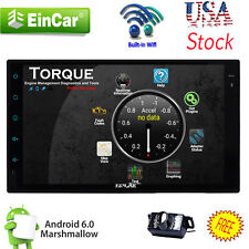 """US Andriod 6.0 Double 2Din 7"""" Car Stereo GPS Radio WiFi 3G Mirror DVD Player CAM"""