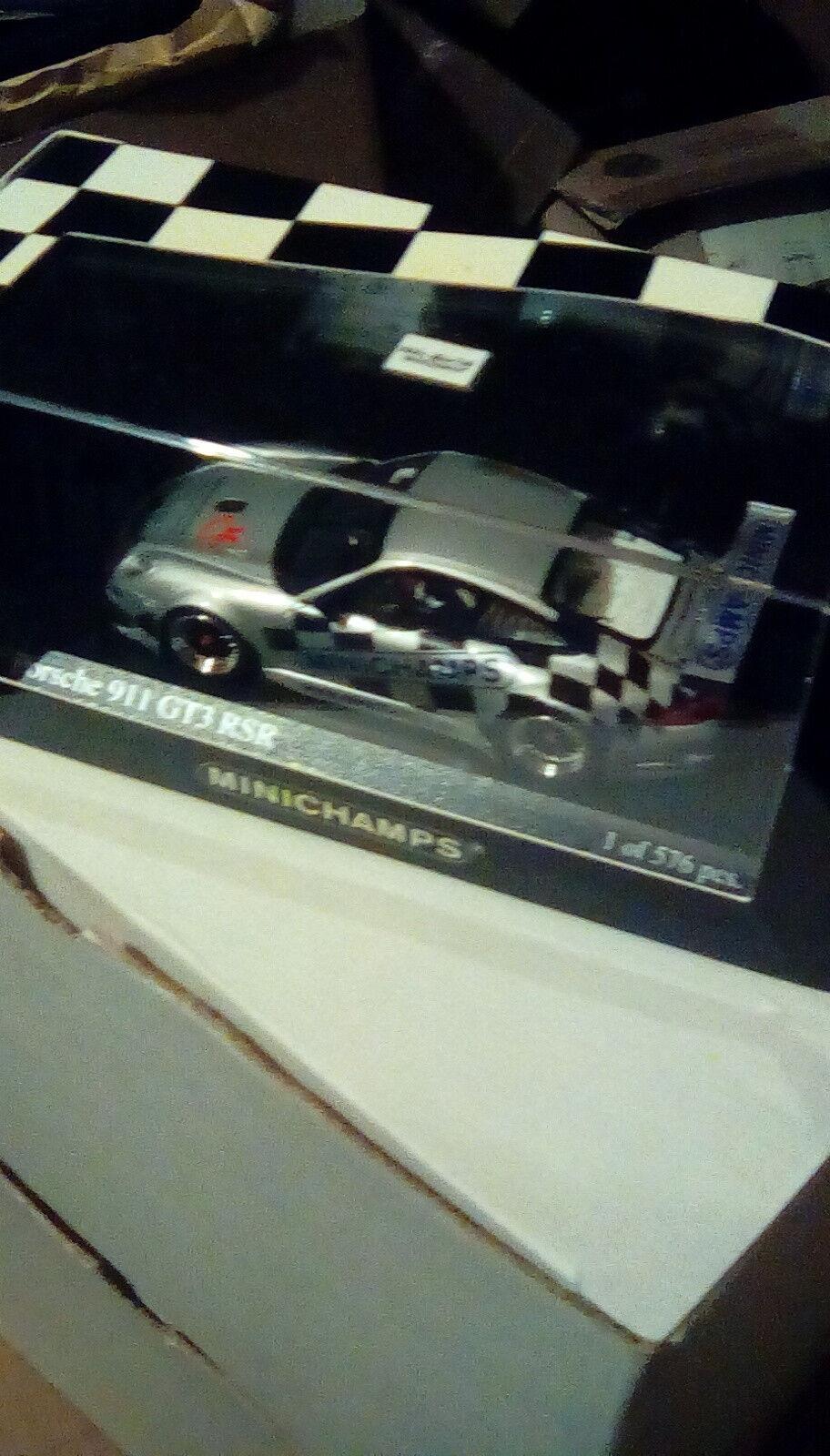 RARE MINICHAMPS PORSCHE 911 GT3RSR MESSEMODELL NUREMBURG TOYFAIR 1 43 1 576 2009