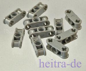 LEGO-Technik-10-x-Verbinder-1x3-hellgrau-2-x-Achsloch-1-x-Loch-32184-NEUWARE