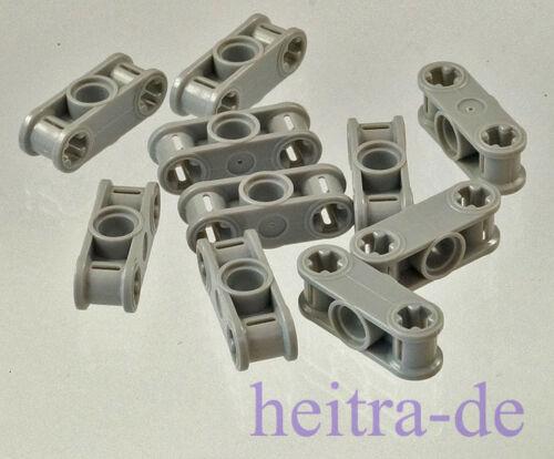 2 x Achsloch 1 x Loch 32184 NEUWARE LEGO Technik 10 x Verbinder 1x3 hellgrau