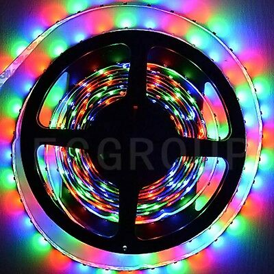 New 5M 300LED SMD 3528 5050 RGB Flexible Strip Light (Music Sound Remote+Power)