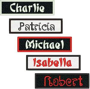 Details about Custom Name Patch China Thai Font Style Judo Karate Martial  Arts Tae Kwon Do