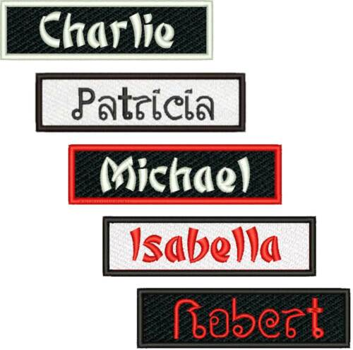 Custom Name Patch China Thai Font Style Judo Karate Martial Arts Tae Kwon Do