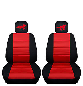 Image Is Loading Two Tone Front Seat Covers With A Horse
