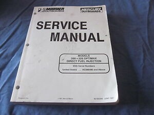 mercury 225 optimax owners manual