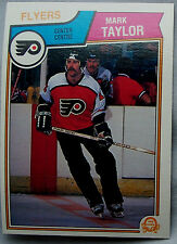 1983-84 OPC o-pee-chee Mark Taylor Flyers lot of 2 Hockey Cards