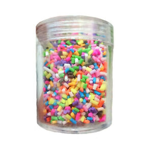 Details about Polymer Clay Fake Sprinkles for Slime DIY Decoden Phone Case  Rainbow Craft Charm