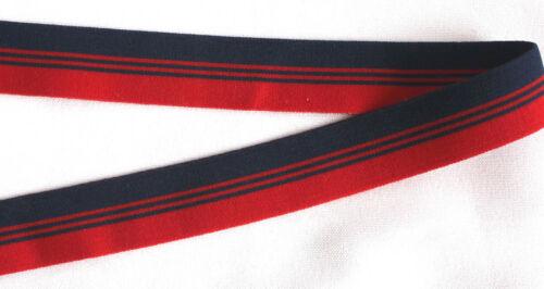 1m zierborte gummiborte 23 mm cinta elástica decorativa rojo dblau blando ziergummi goma