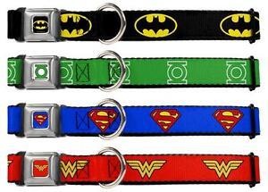 Dog-Collar-Seat-Belt-1-0-034-DC-Comics-Batman-Superman-Wonder-Woman