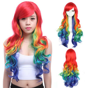 Rainbow-Wig-Colorful-Hair-Mixed-Color-Long-Curly-Wavy-Women-Cosplay-Wigs-Party