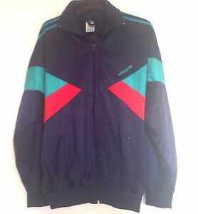 Veste-de-survetement-ADIDAS-Vintage-Jacket-80-039-s-Sportswear-Clothing-rare