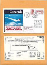 CONCORDE SST BRITISH AIRWAYS FIRST FLIGHT BORDEAUX-LONDON OCT 1982  FLOWN ON