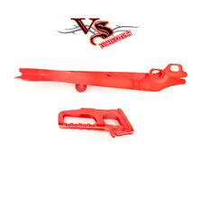 Polisport Guía De Cadena & Kit de deslizador Honda CRF250R 11-13, CRF450R 11-12 Rojo