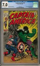 Captain America #110 CGC 7.0 (OW) 1st appearance of Madame Hydra