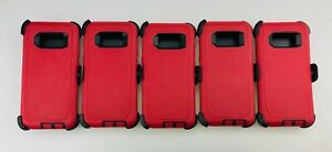 Lot For Samsung Galaxy S8/S8+ Rugged Heavy Duty Shockproof Case w/ Belt Clip