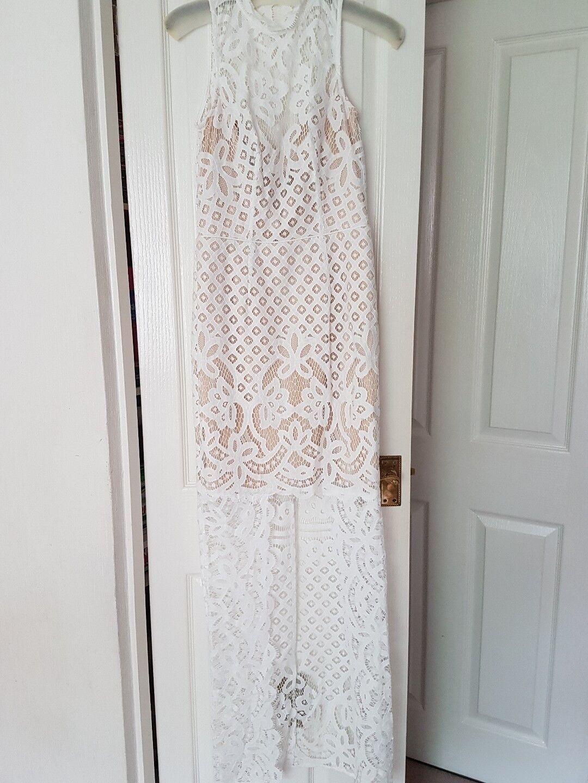 Coast Izzy Lace Maxi Dress Size 8 Ivory