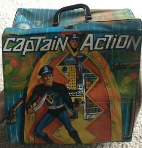 Vintage-1967-Ideal-Captain-Action-loose-Headquarters-Carrying-Case-Rough