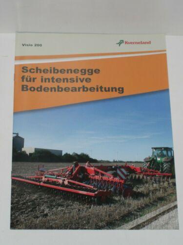 KVERNELAND Visio 200 Scheibeneggen Prospekt von 07//2012 9332