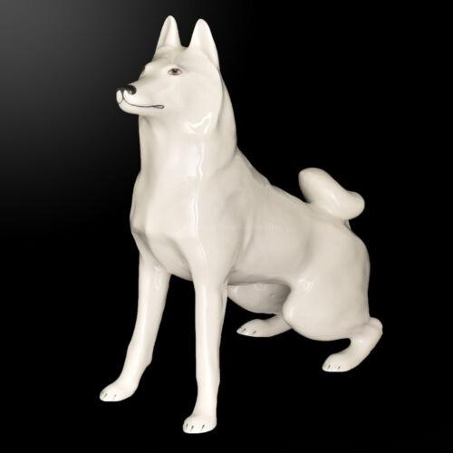 Husky Russia Imperial Lomonosov Porcelain Sculpture Figurine Dog Laika Rare