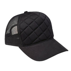 Quilted-Pattern-Fashion-Foam-Front-Trucker-Cap