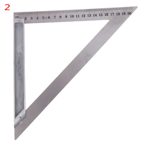 Details about  /90° Right Angle Stainless Steel Triangle Ruler Woodworking Measurement TooY hy