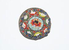 Vintage Italian Micro Mosaic Glass Flower Pin Brooch Italy 50s